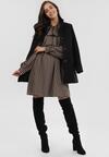 Czarno-Beżowa Sukienka Brenirad