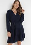 Granatowa Sukienka Wysnell