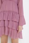 Ciemnoróżowa Sukienka Whitewhirl