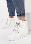 Białe Sneakersy Na Ukrytym Koturnie Liondreamer
