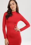 Czerwona Sukienka Dzianinowa Arlette