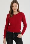Bordowy Sweter Rhouz