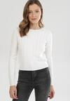 Biały Sweter Rhouz