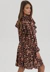 Czarno-Beżowa Sukienka Daecaryn
