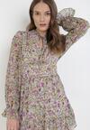 Jasnozielona Sukienka Ralobanise