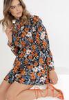 Czarno-Pomarańczowa Sukienka Yinydark