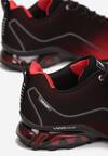 Czarno-Czerwone Buty Sportowe Alcidise