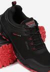 Czarno-Czerwone Buty Sportowe Jhaerithe