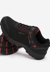 Czarno-Czerwone Buty Sportowe Highless