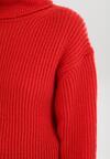 Czerwony Golf Z Wełną Gildan