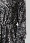 Granatowo-Czarna Sukienka Amalinei