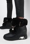 Czarne Sneakersy Na Ukrytym Koturnie Cateva