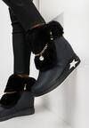 Granatowe Sneakersy Na Ukrytym Koturnie Cateva