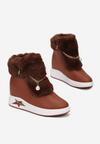Brązowe Sneakersy Na Ukrytym Koturnie Cateva