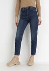 Granatowe Jeansy Slouchy Broombutter