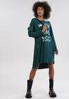 Ciemnozielona Sukienka Mollacia