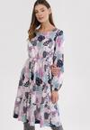 Jasnofioletowa Sukienka Amalinei
