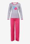 Szaro-Różowy Komplet Piżamowy Yamare