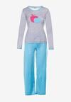 Szaro-Niebieski Komplet Piżamowy Yamare