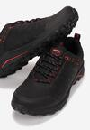 Czarno-Czerwone Buty Sportowe Physanos