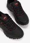 Czarno-Czerwone Buty Sportowe Shadebraid