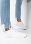 Biało-Srebrne Buty Sportowe Vanillabelle