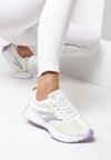 Biało-Fioletowe Buty Sportowe Essi