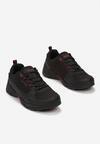 Czarno-Czerwone Buty Sportowe Pasishis