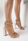 Beżowe Sandały Phaethertes