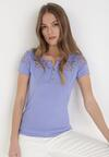 Jasnofioletowy T-shirt Selestosi