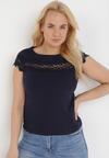 Granatowy T-shirt Cireilla