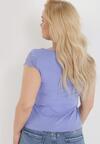 Niebieski T-shirt Cireilla