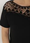 Czarny T-shirt Zeuxose