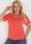 Czerwony T-shirt Zeuxose