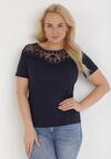 Granatowy T-shirt Zeuxose