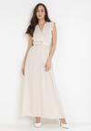 Kremowa Sukienka Calyphone