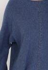 Granatowy Sweter Pheraeia