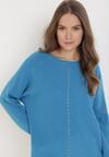 Niebieski Sweter Pheraeia