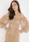 Ciemnobeżowa Sukienka Saphone