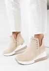 Jasnobeżowe Sneakersy Delmabel