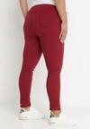 Bordowe Spodnie Skinny Renaya