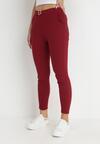 Bordowe Spodnie Skinny Aeliyah