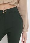 Ciemnozielone Spodnie Skinny Aeliyah