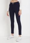 Granatowe Spodnie Skinny Aeliyah