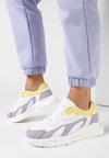 Biało-Liliowe Sneakersy Diame