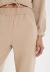 Beżowe Spodnie Dresowe Thelxiesise