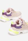 Różowo-Limonkowe Buty Sportowe Haylay