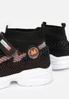 Czarno-Pomarańczowe Buty Sportowe Rhenemisia