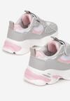 Szaro-Różowe Buty Sportowe Aebby