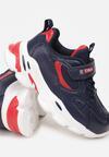 Niebiesko-Czerwone Buty Sportowe Aebby